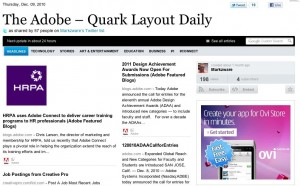 Adobe Quark Layout Daily for Adobe InDesign and QuarkXPress Users