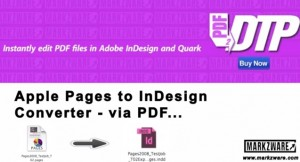 Apple Pages to InDesign Converter, Markzware PDF2DTP