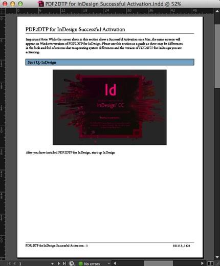 Zware PDF2DTP für Adobe InDesign CC Macintosh Windows konvertiert PDF