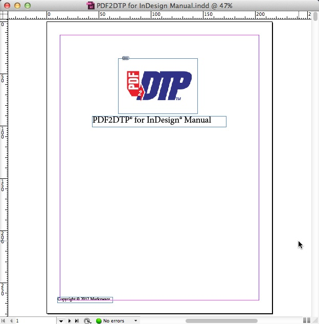 Markzware PDF2DTP for Adobe InDesign Converted PDF