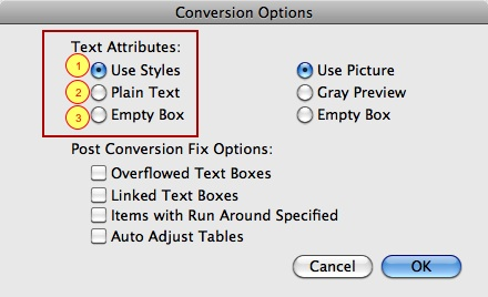 Markzware ID2Q Bundle Text Attributes Settings for InDesign CC 2018 to QuarkXPress 2018 File Conversion on macOS