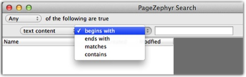 Markzware PageZephyr Search Mac Content Specifier