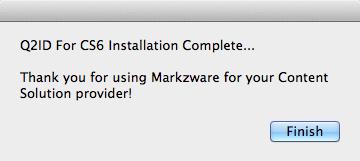 Markzware Q2ID - Installation Complete