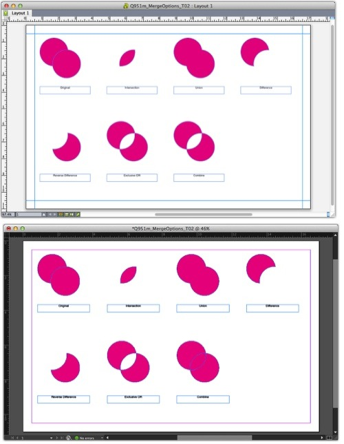 Markzware Q2ID for InDesign CC Merged Objects