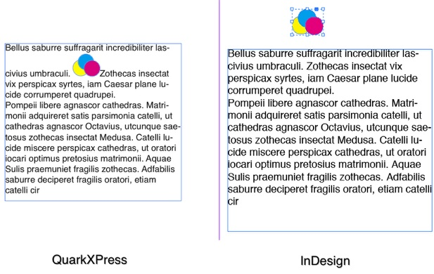 Markzware Q2ID for InDesign CS6 Grouped Anchored Boxes