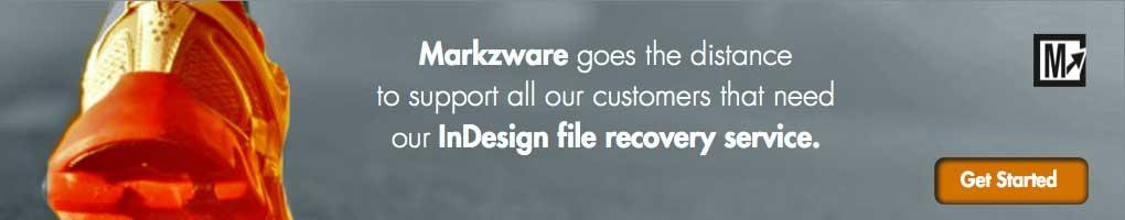 Le service de récupération de fichiers DTP de Markzware permet de récupérer Adobe INDD CS / CC, malgré la corruption des fichiers InDesign