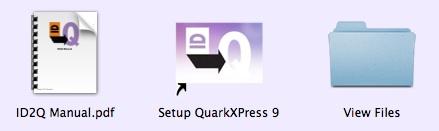 Markzware ID2Q for QuarkXPress 9 Run ID2Q Setup Program