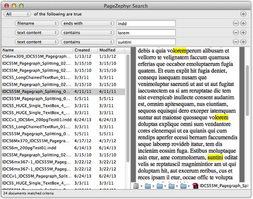 Markzware PageZephyr Search Mac Example 5
