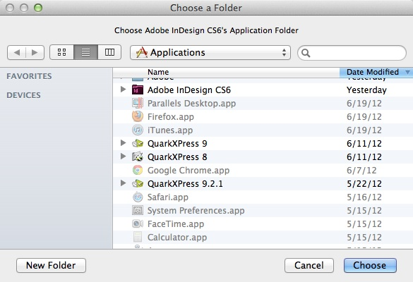 Markzware Pub2ID for InDesign CS6 Select InDesign Folder