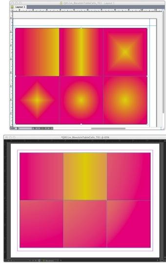Markzware Q2ID para InDesign CC Mezclas en celdas de tabla