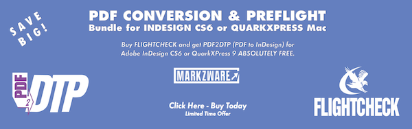 2Bundle Banner 960 300 PDF Conversion & Preflight Bundle for InDesign CS6 or QuarkXPress Mac
