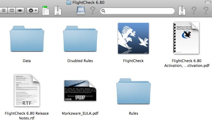 Markzware FlightCheck Folder Structure
