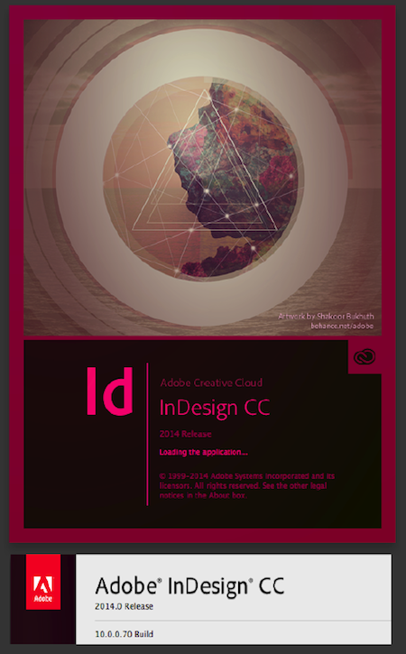 Adobe InDesign CC 2014 version 10 Creative Cloud v10.x