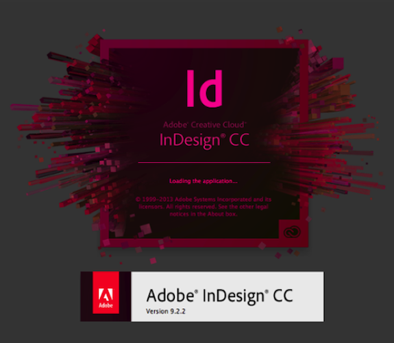 Adobe InDesign CC version 9 Creative Cloud v9.x