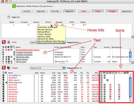 Markzware FlightCheck Definition Overview Window