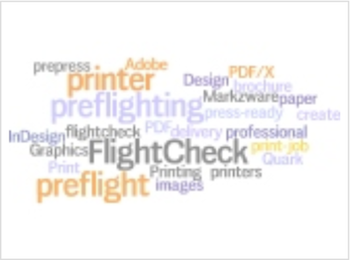 Create Convert Preflight-Druck: Preflighting Prepress-Wort-Wolke