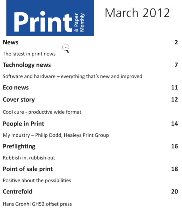 Preflight for Printers, preflighting article in Print & Paper Monthly