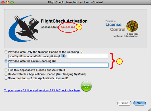 Markzware FlightCheck Professional Initial Activation Window