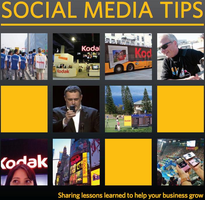 Kodak Social Media Tips guide
