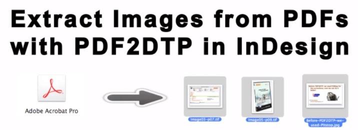 Extraiga imágenes PDF con PDF2DTP y conviértalo en Adobe InDesign CS6 Images