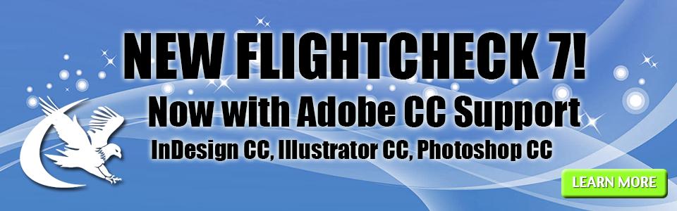 Markzware FlightCheck 7 with Adobe CC Support banner