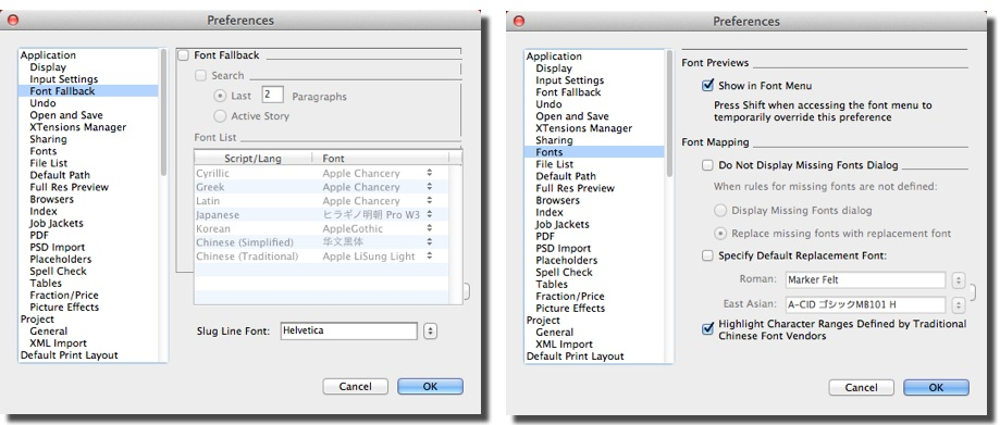 Missing Font Window in Markzware ID2Q to Convert InDesign CS-CC 2017 Files to QuarkXPress 2017