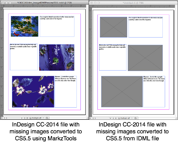 Markzware MarkzTools InDesign Image Previews