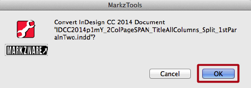 Markzware MarkzTools Intercetta InDesign CC 2014 File