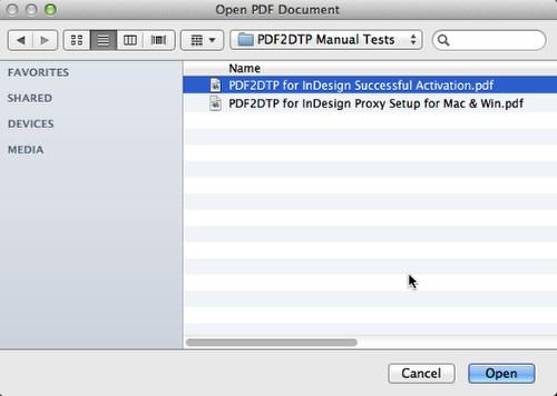 Zware PDF2DTP für InDesign CC Mac Win Suchen PDF-Datei