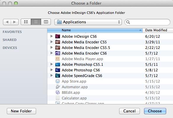 Markzware PDF2DTP for InDesign Select InDesign Folder