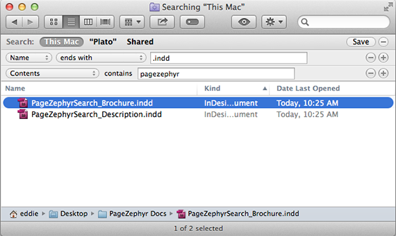 Markzware PageZephyr Search Finder