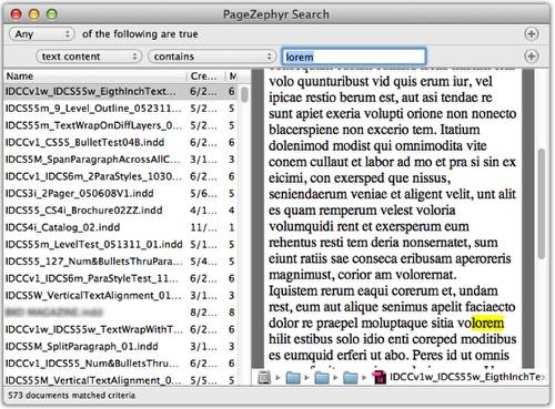 Markzware Pagezephyr suchen Mac Beispiel 2