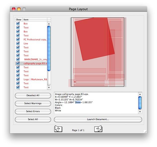 Seitenlayout in Graphic Design