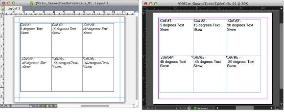 Markzware Q2ID para InDesign CC texto torcidos en celdas de tabla