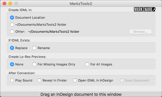 Markzware MarkzTools2 Converting your first file Start MarkzTools2