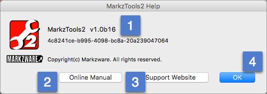 Zware MarkzTools2 Hilfe-Menü