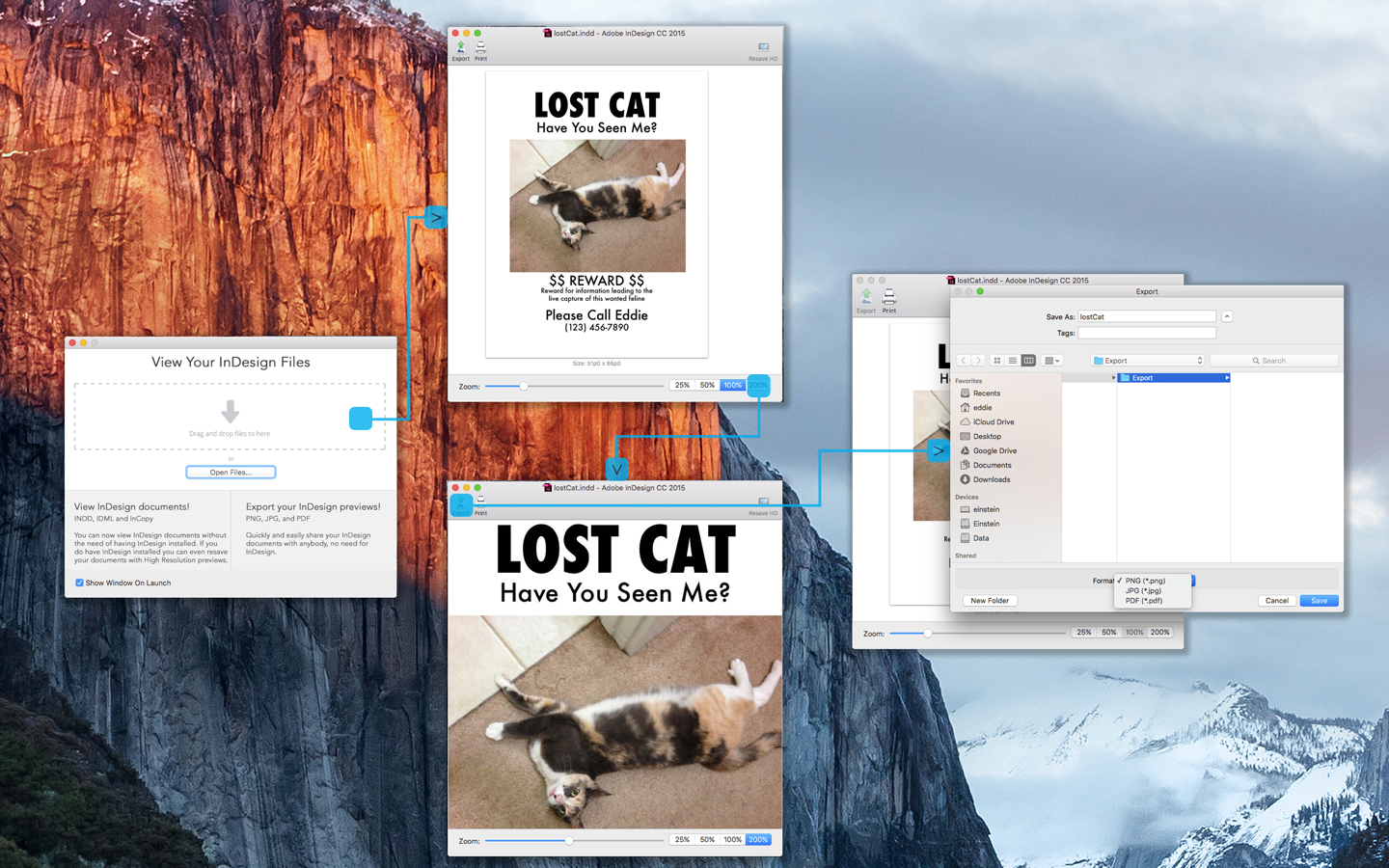 Markzware IDを使用してInDesign、IDML、InCopyプレビュー、ストーリー、イメージ、フォントを表示するID util for macOS