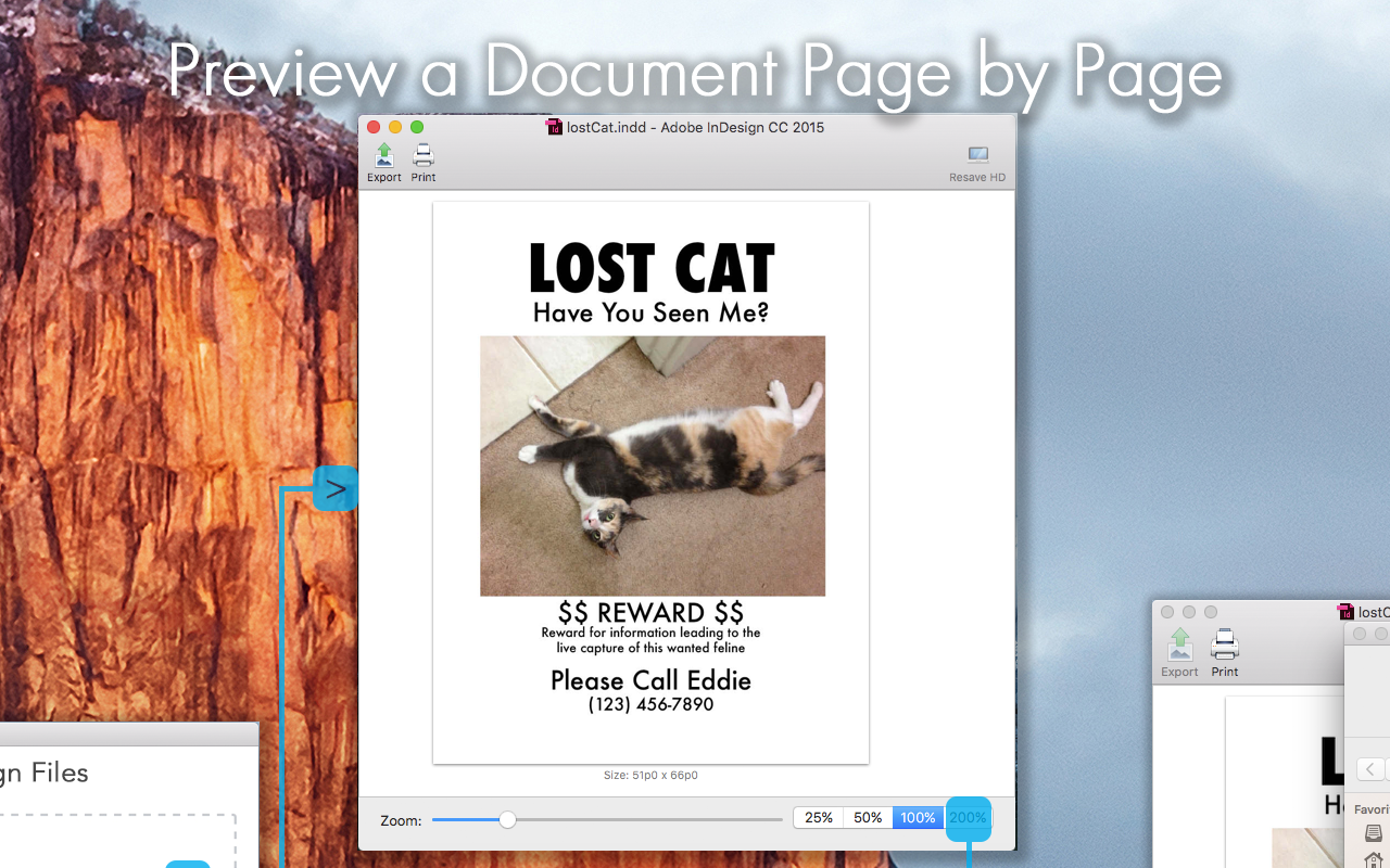View InDesign Previews Page By Page, with Markzware's ID Util Prepress Application to Check InDesign Versions