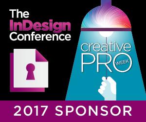 Zware Sponsoren Die InDesign-Konferenz während CreativePro Woche 2017
