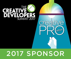 Creative Developers Summit 2017 Sponsor CreativePro Week for coders, IT pros, developers of graphic software & tools