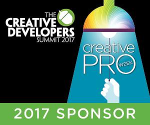 Los desarrolladores creativos Cumbre 2017 Patrocinador CreativePro semana para los codificadores, los profesionales de TI, desarrolladores de software gráfico y herramientas