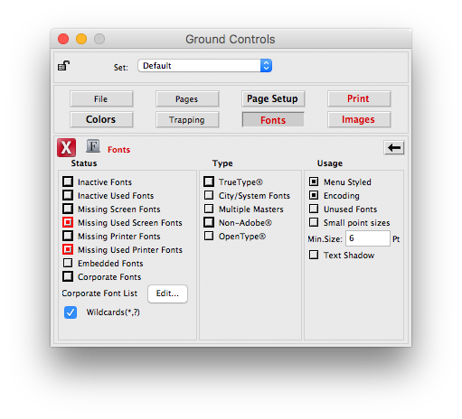 Ground Controls in Markzware's FlightCheck Application to Check Adobe Photoshop CC 2018 macOS File Printing Quality
