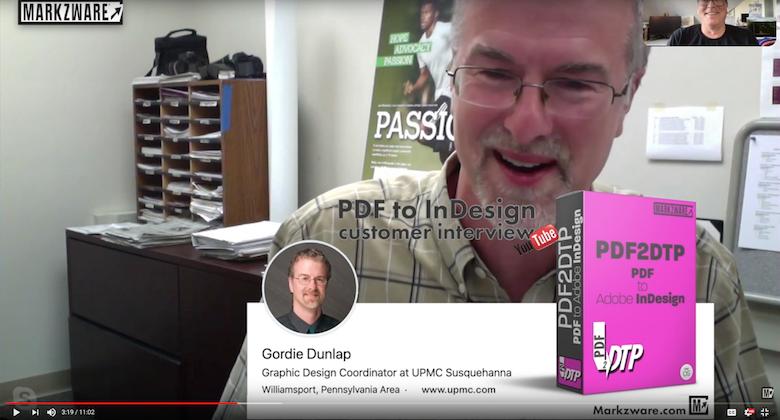 PDF to InDesign Plugin Review: Design Coordinator, Gordie Dunlap, on PDF2DTP