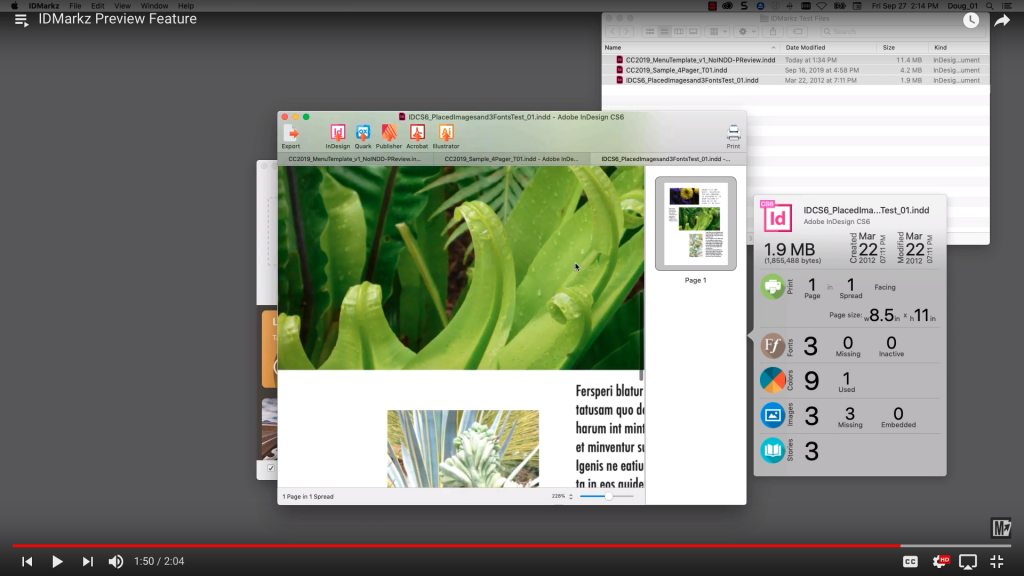 Preview InDesign Files