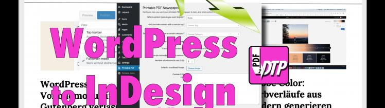 Wordpress to InDesign