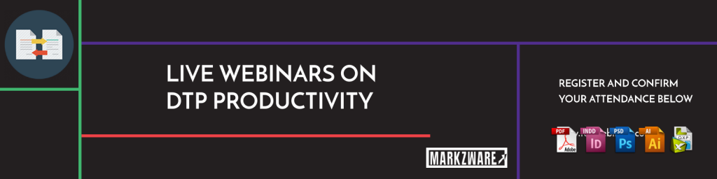 Live webinars for DTP productivity with Adobe InDesign, Affinity Publisher