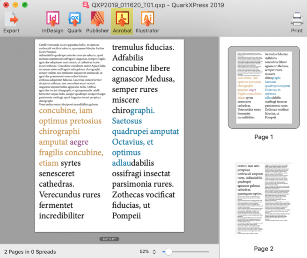 Open QuarkXPress in Adobe Acrobat DC, Edit PDF Text & Annotate, Using Markzware QXPMarkz