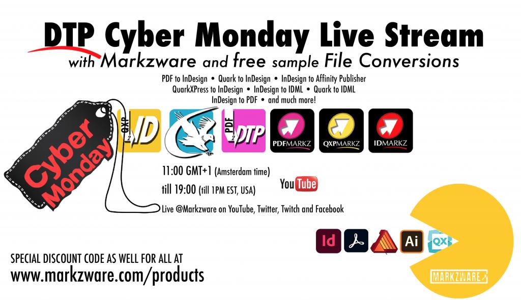 DTP Cyber Monday Livestream Event: Big Sur, InDesign 2021, Affinity, Markzware Demos, Giveaways, Q&A