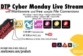DTP Cyber Monday Livestream Event: Big Sur, InDesign 2021, Affinity, Markzware Demos, Giveaways, Q&A
