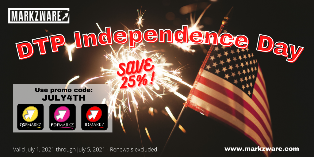 DTP Independence Day 2021 banner Markzware